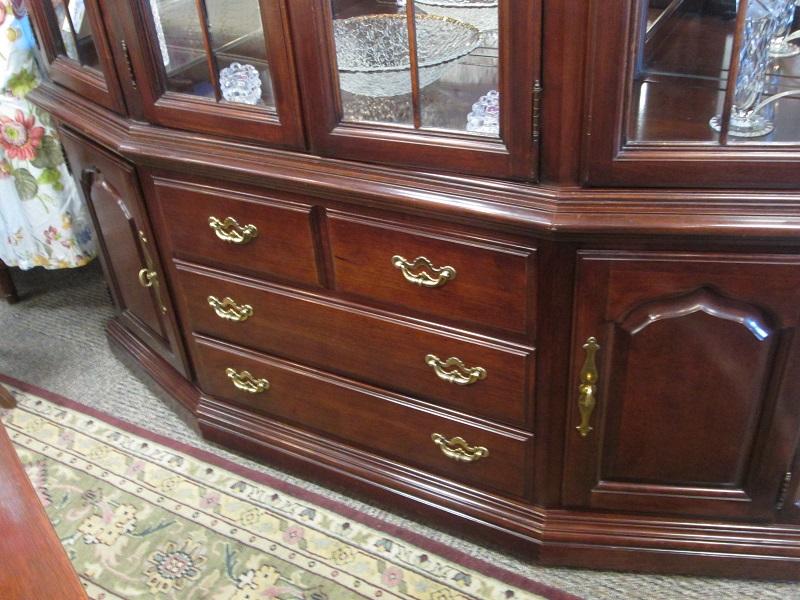 Large mahogany lighted china cabinet shoplegacies com shop donate